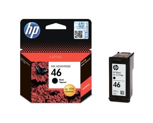 Картридж струйный HP 46 CZ637AE черный оригинальный - (390774К)