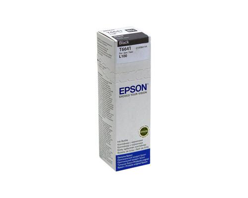 Контейнер с чернилами Epson T6641 C13T66414A черный оригинальный - (235302К)