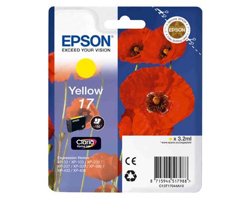 Картридж струйный Epson 17 C13T17044A10 желтый оригинальный - (266863К)