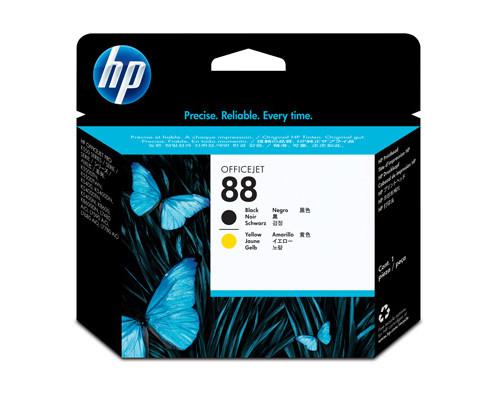 Головка печатающая HP 88 C9381A черная и желтая - (136930К)