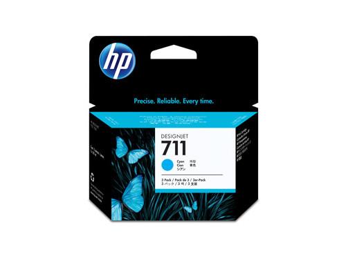 Картридж струйный HP 711 CZ134A голубой тройная упаковка оригинальный - (316330К)