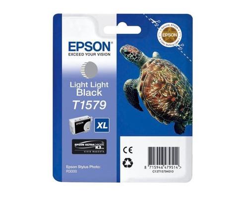 Картридж струйный Epson T1579 C13T15794010 светло-серый оригинальный - (288482К)