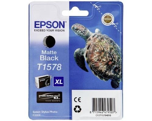 Картридж струйный Epson C13T15784010 матовый черный повышенной емкости оригинальный - (288481К)