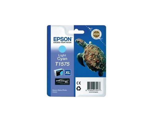 Картридж струйный Epson T1575 C13T15754010 светло-голубой оригинальный - (273882К)