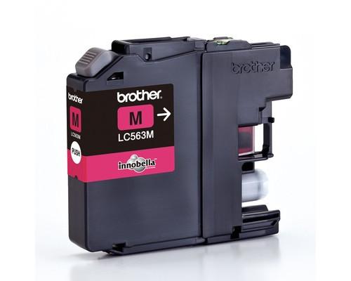 Картридж струйный Brother LC563M пурпурный оригинальный - (309086К)