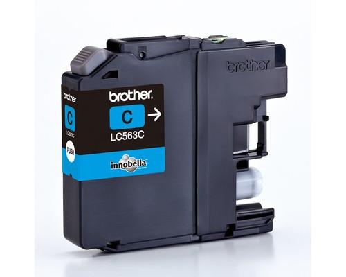 Картридж струйный Brother LC563C голубой оригинальный - (309085К)