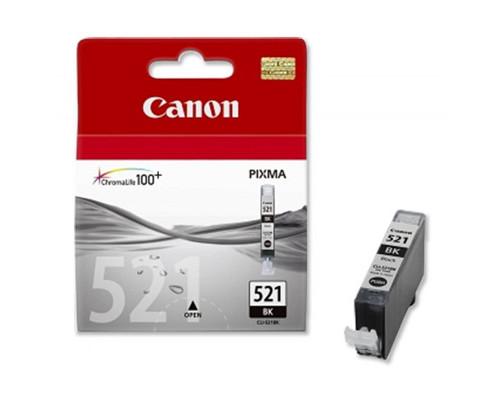 Картридж струйный Canon CLI-521BK 2933B004 черный оригинальный - (157790К)