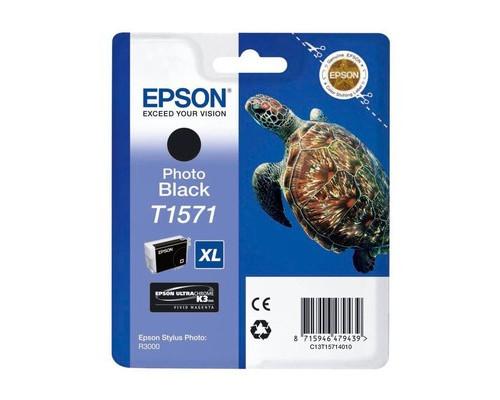 Картридж струйный Epson C13T15714010 фото черный повышенной емкости оригинальный - (273878К)