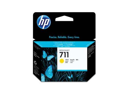 Картридж струйный HP 711 CZ132A желтый оригинальный - (316328К)
