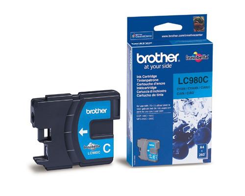 Картридж струйный Brother LC980C голубой оригинальный - (159258К)