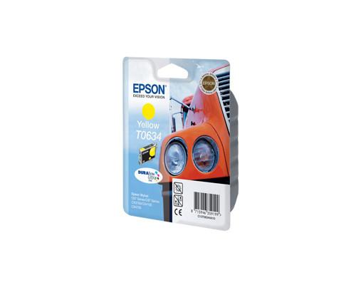 Картридж струйный Epson C13T06344A10 желтый оригинальный - (70919К)