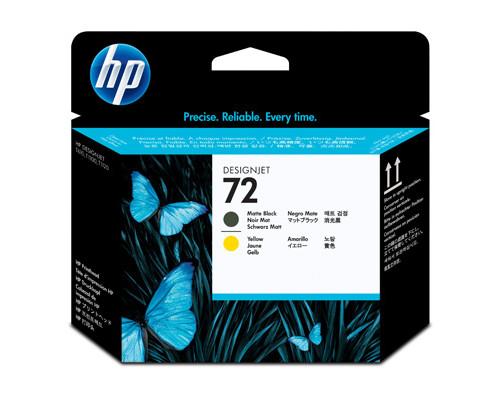 Головка печатающая HP 72 C9384A желтая и матовая черная - (147955К)