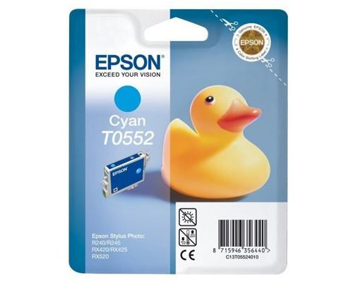 Картридж струйный Epson T0552 C13T05524010 голубой оригинальный - (73749К)
