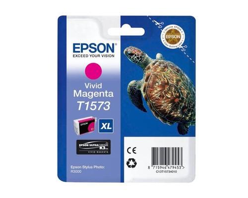 Картридж струйный Epson T1573 C13T15734010 пурпурный оригинальный - (273880К)