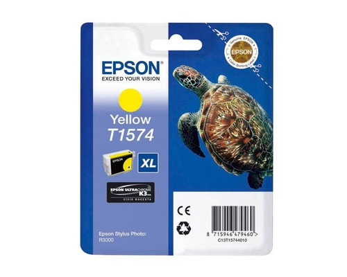 Картридж струйный Epson T1574 C13T15744010 желтый оригинальный - (273881К)