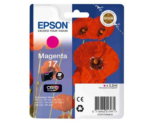 Картридж струйный Epson C13T17034A10 пурпурный оригинальный - (266862К)
