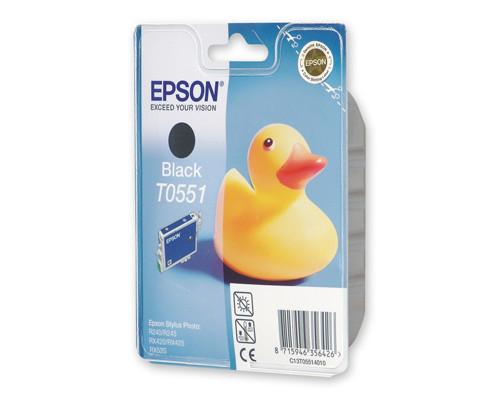 Картридж струйный Epson T0551 C13T05514010 черный оригинальный - (73752К)