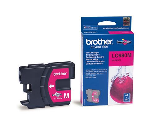 Картридж струйный Brother LC980M пурпурный оригинальный - (159256К)