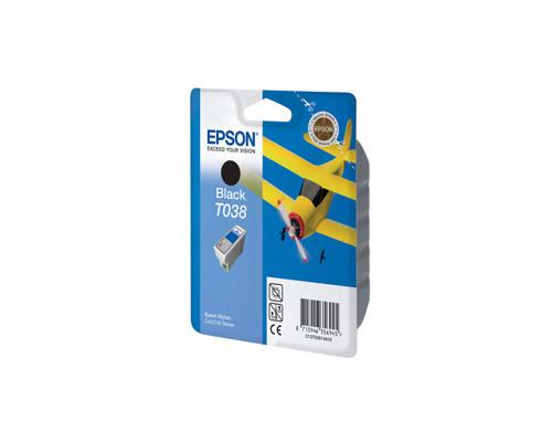 Картридж струйный Epson T038 C13T03814A10 черный оригинальный - (50081К)