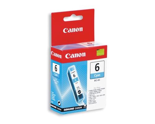 Картридж струйный Canon BCI-6C 4706A002 голубой оригинальный - (32278К)