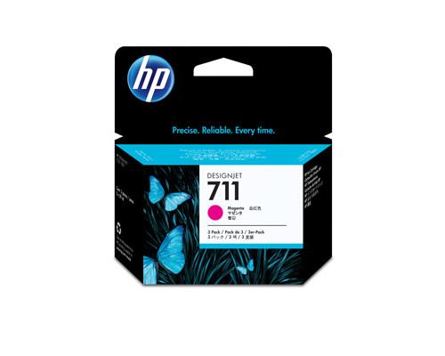 Картридж струйный HP 711 CZ135A пурпурный тройная упаковка оригинальный - (316331К)