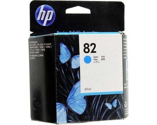 Картридж струйный HP 82 C4911A голубой оригинальный - (34433К)