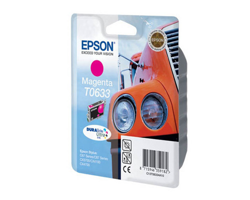 Картридж струйный Epson T0633 C13T06334A10 пурпурный оригинальный - (70918К)