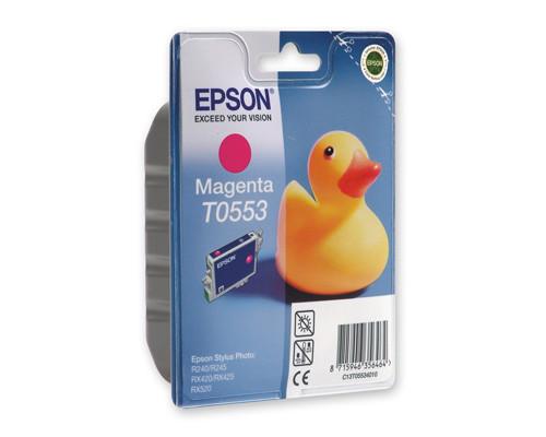 Картридж струйный Epson T0553 C13T05534010 пурпурный оригинальный - (73751К)