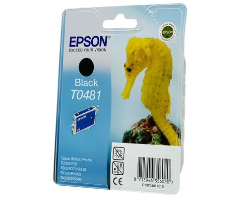 Картридж струйный Epson T0481 C13T04814010 черный оригинальный - (51878К)