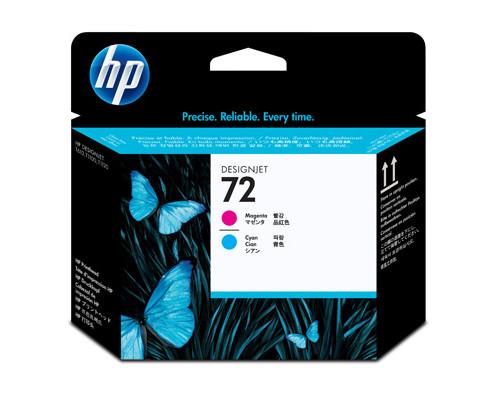 Головка печатающая HP 72 C9383A пурпурная и голубая - (147954К)