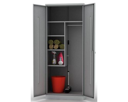 Шкаф хозяйственный металлический ШМС-6.15 756x450x1850 мм - (355852К)