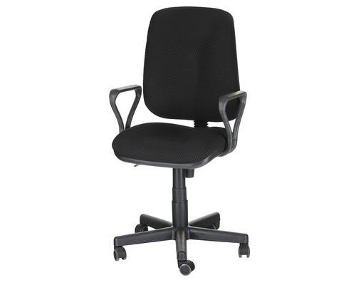 Кресло офисное Easy Chair 301 черное ткань/пластик - (568337К)