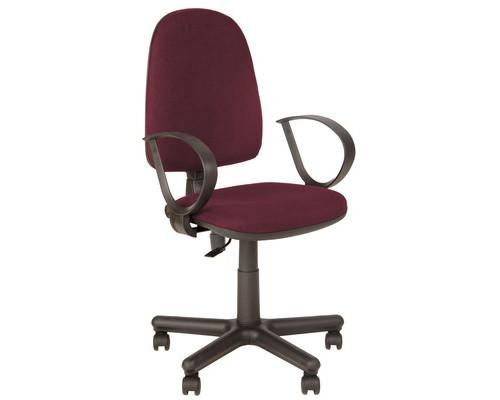 Кресло офисное Jupiter бордовое ткань/пластик/металл - (508873К)