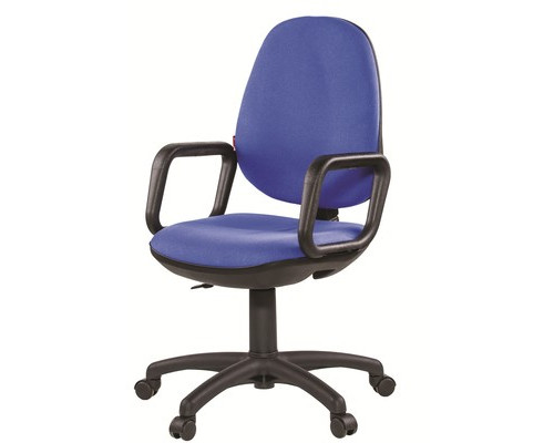 Кресло офисное Easy Chair Comfort синее ткань/пластик - (81112К)