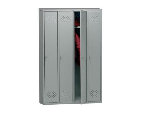 Шкаф для одежды металлический Практик LS-41 4 отделения 1130x500x1830 мм - (135819К)