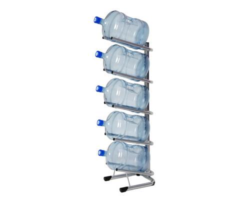 Стеллаж для воды Бридж-5 на 5 тар алюминий 370x450x1440 мм - (276305К)