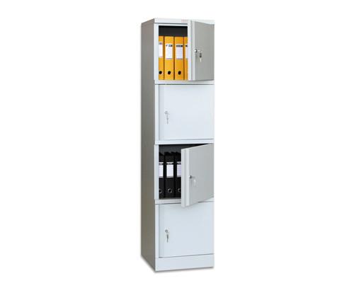 Шкаф архивный металлический Практик AM 1845/4 4 отделения 472x458x1830 мм - (44641К)