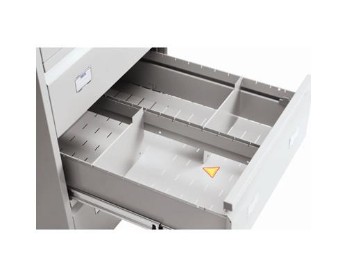 Разделитель поперечный Практик для картотеки AFC-06/2 металл 12 штук - (243398К)