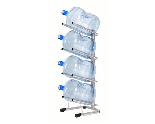 Стеллаж для воды Бридж-4 на 4 тары алюминий 370x450x1140 мм - (276304К)