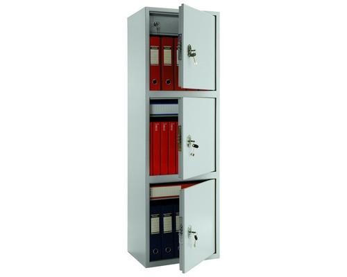 Шкаф бухгалтерский металлический Практик SL-150/3T 3 отделения трейзер 460x340x1490 мм - (98557К)