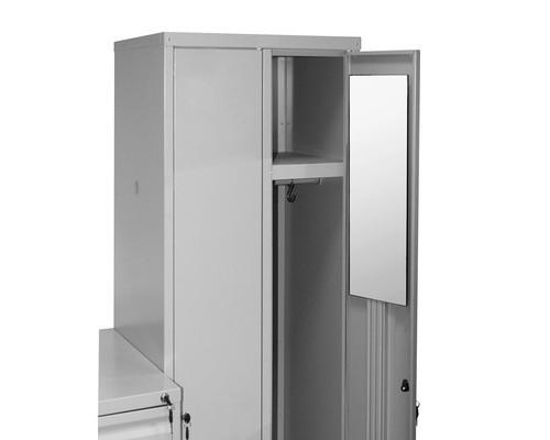 Зеркало навесное на металлические шкафы 250x200 мм - (408407К)