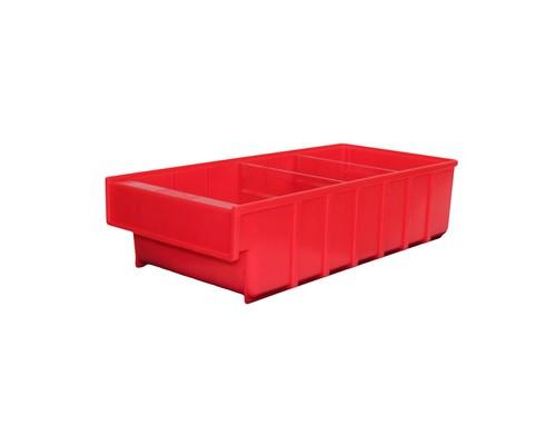 Ящик пластиковый ДиКом серия Б красный 185x400x100 мм - (526284К)
