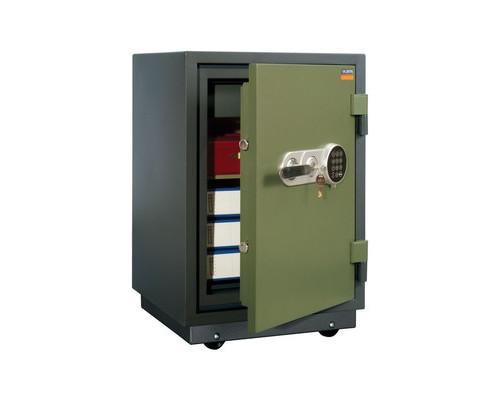 Сейф огнестойкий Valberg FRS-66 TEL с трейзером ключевой и электронный замки - (334688К)