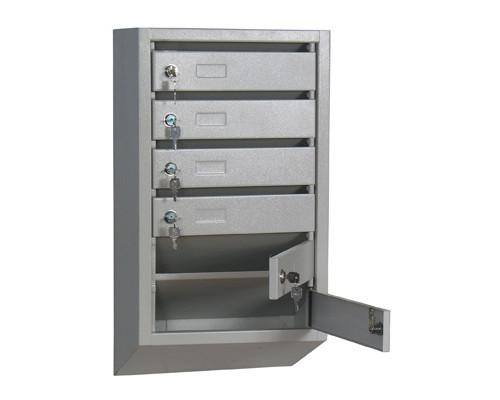 Ящик почтовый КП-6 6-секционный металлический серый 380 x 190 x 685 мм - (286261К)