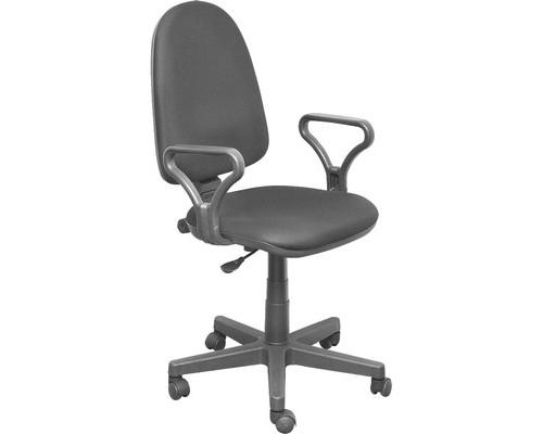 Кресло офисное Prestige GTP RU серое ткань/пластик - (501766К)