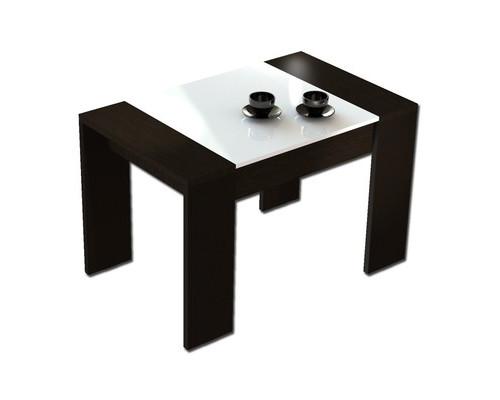Стол журнальный 210 черный/матовый белый - (404014К)