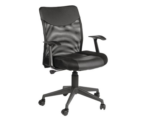 Кресло для руководителя Easy Chair 631 TTW Low черное ткань/искусственная кожа/сетка/пластик - (487393К)
