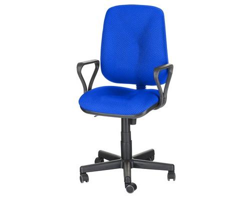 Кресло офисное Easy Chair 301 PJP синее ткань/пластик - (568338К)