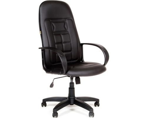 Кресло для руководителя Chairman 727 черное искусственная кожа/пластик - (376369К)