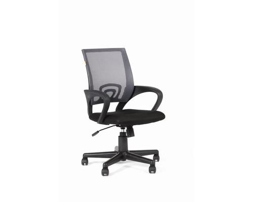 Кресло офисное Easy Chair 304 черное/серое ткань/сетка/пластик - (498865К)